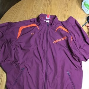 Virginia Tech Nike Fit storm jacket in size L.